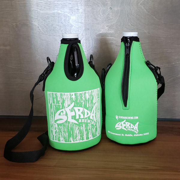 Serda Brewing Growler Coolie Neon Green