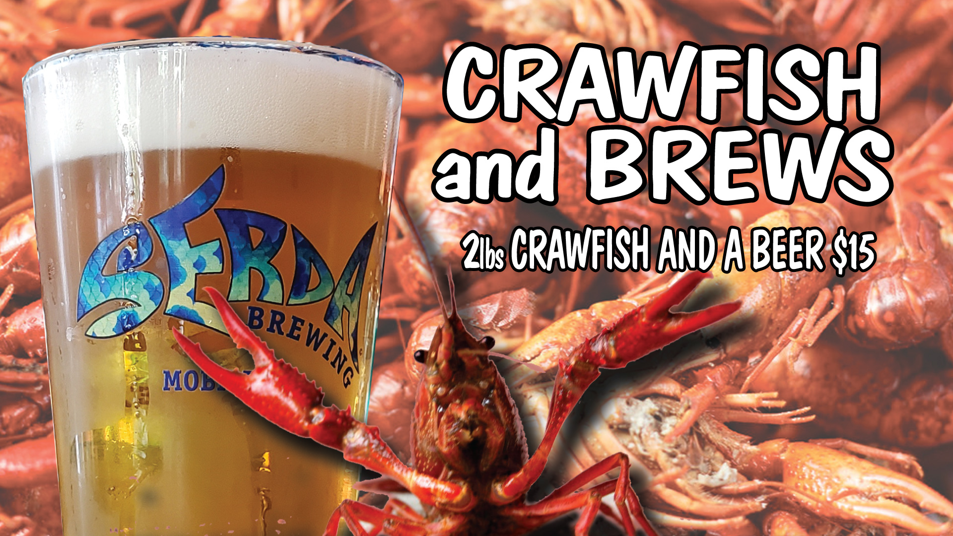 Serda Brewing Crawfish & Brews